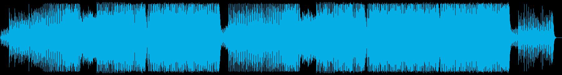 ファンタジックな世界観のアップテンポ曲の再生済みの波形