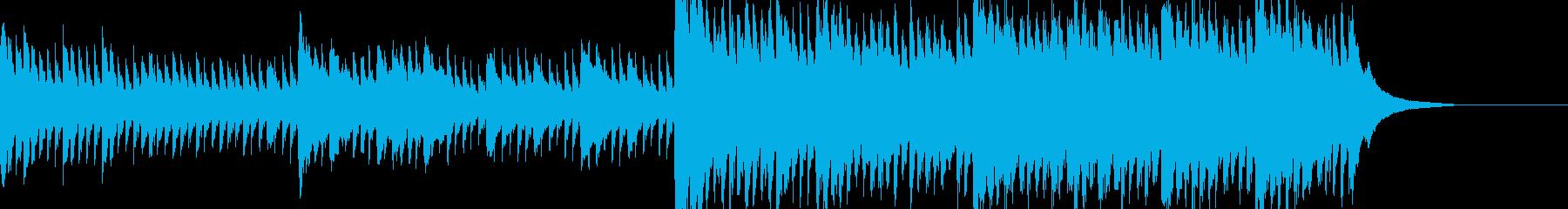 主人公がヒロインを失い強くなる時のピアノの再生済みの波形