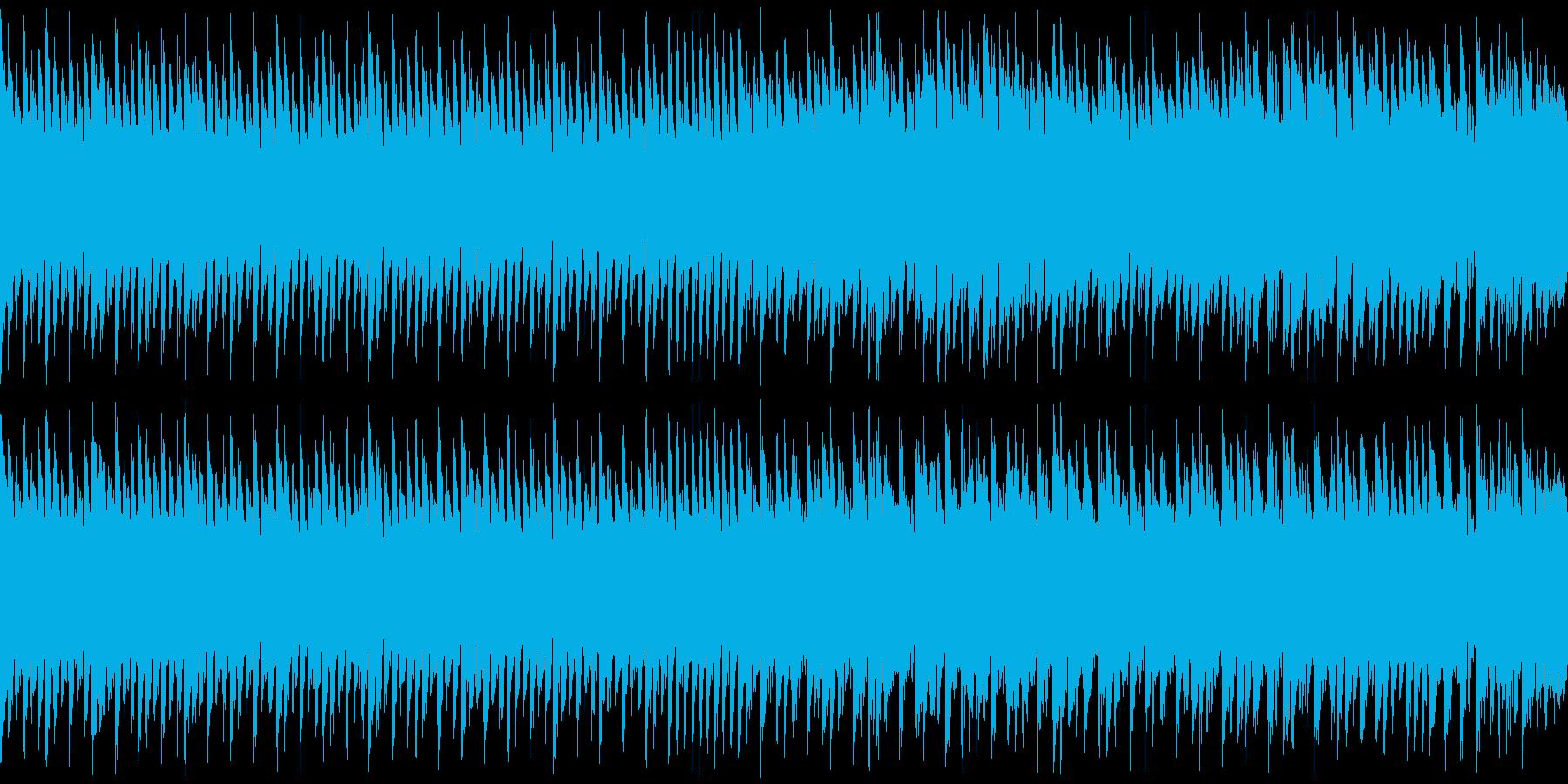 ループ・レトロゲーム風・爽快感のある曲の再生済みの波形