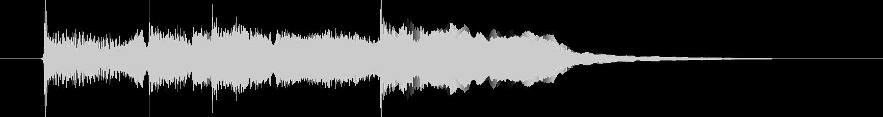 落ち着いたリラクゼーションの音楽の未再生の波形