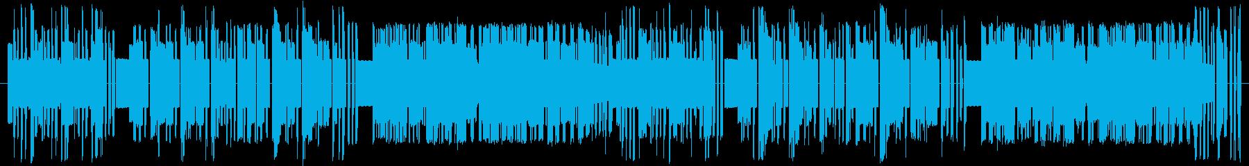 8bit風サンバBGMの再生済みの波形