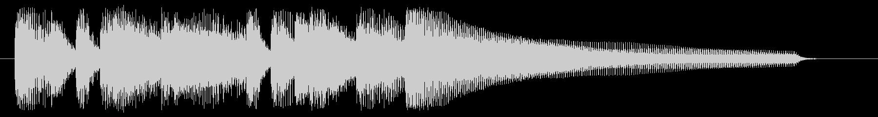 ミステリアスなピアノのジングルの未再生の波形
