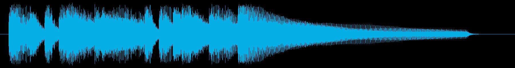 ミステリアスなピアノのジングルの再生済みの波形