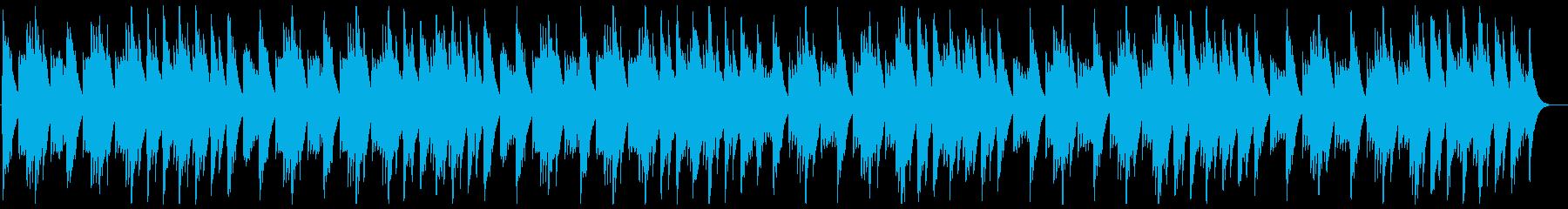 リラックスできるヒーリングミュージックの再生済みの波形