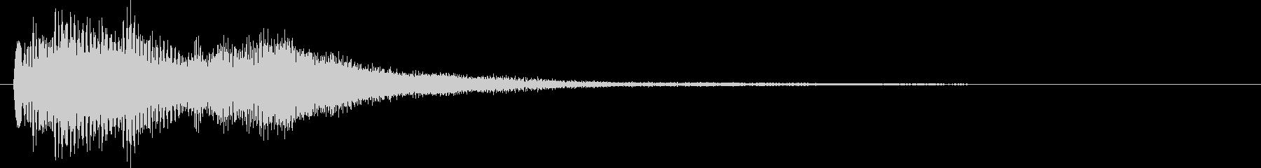 キラキラリ~ン 優しいオルゴール音の未再生の波形