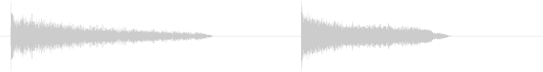 昇順と降順、細長い、ハワイアンギタ...の未再生の波形
