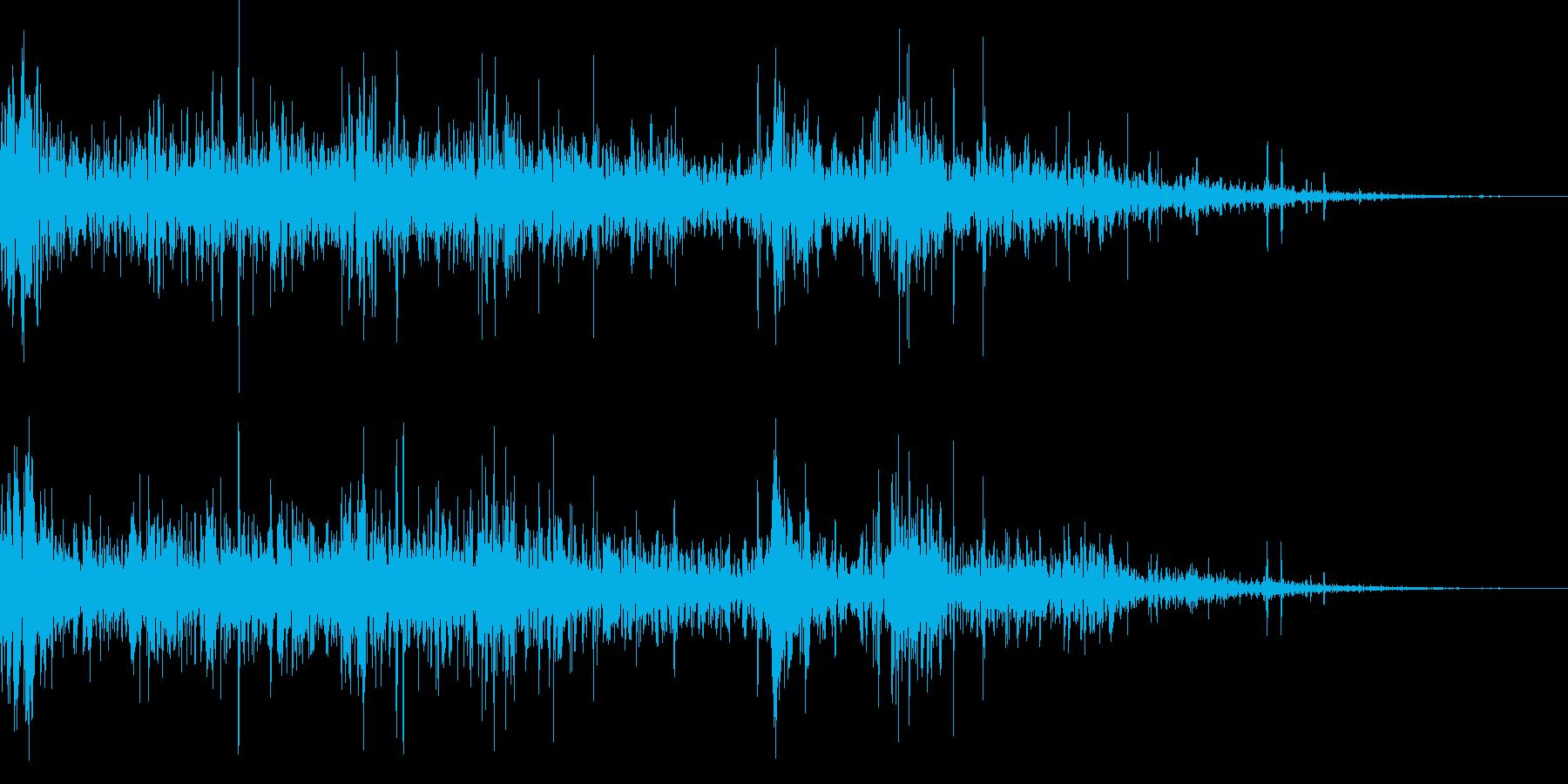 ドンパァ〜!リアルな連続花火の効果音!5の再生済みの波形