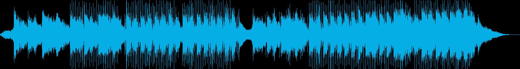 オリエンタルなリラックスBGMの再生済みの波形