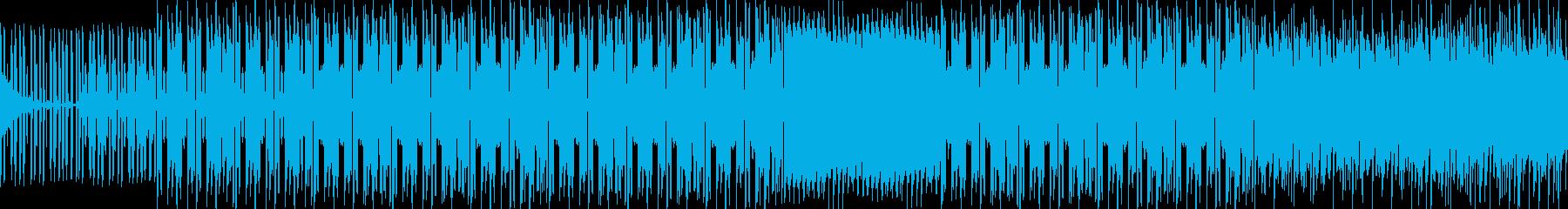緊迫した雰囲気のインスト曲の再生済みの波形