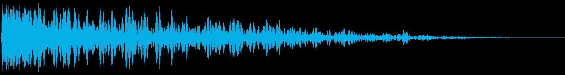 弾力性のある電子金属の影響の再生済みの波形