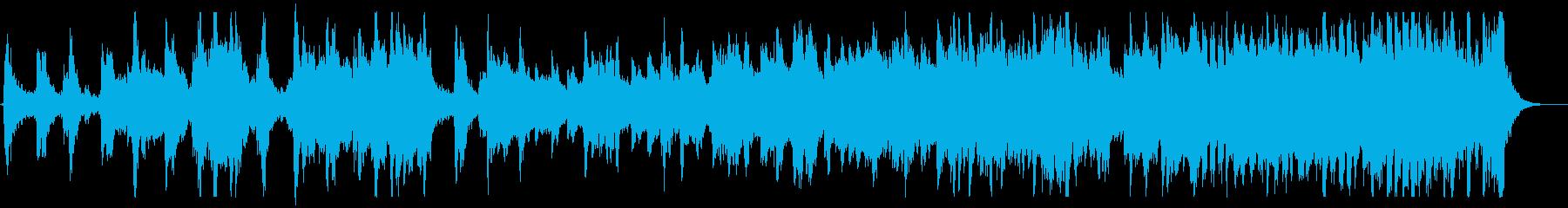 躍動感あるアドベンチャー音楽の再生済みの波形