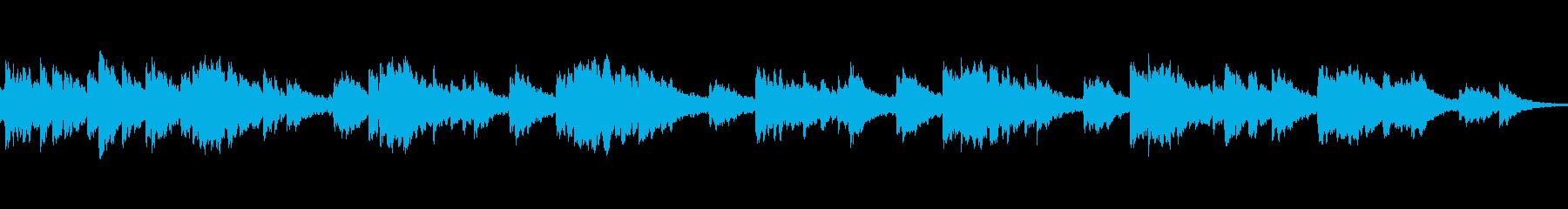 シリアスで響きが綺麗なメロディーの再生済みの波形