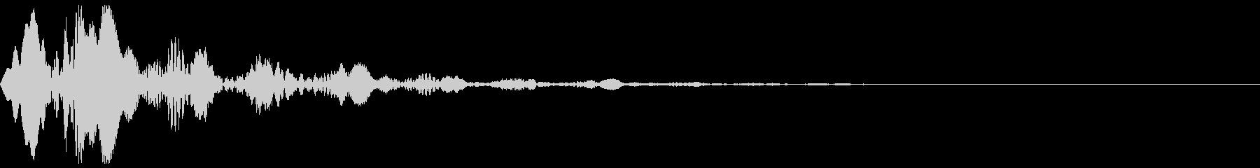 ポヨン♪ 柔らかさや弾力をイメージした音の未再生の波形
