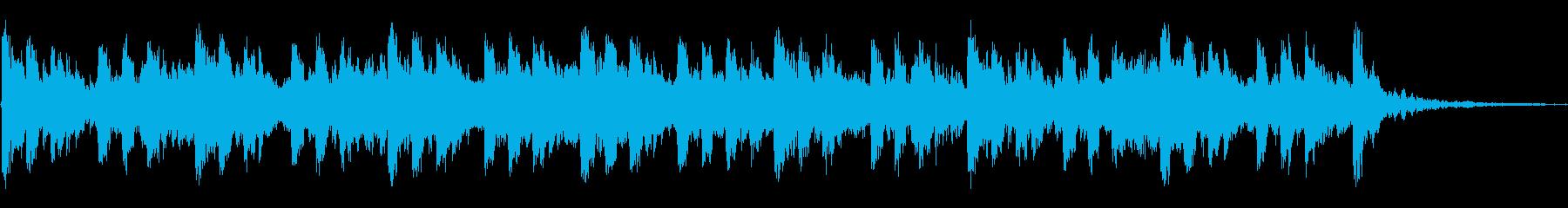 神秘的なラテン風ジングルの再生済みの波形