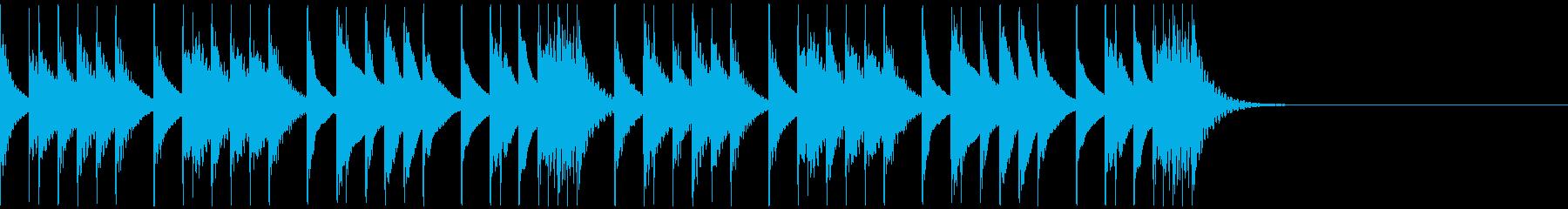 劇伴・コミカルなBGM:1の再生済みの波形