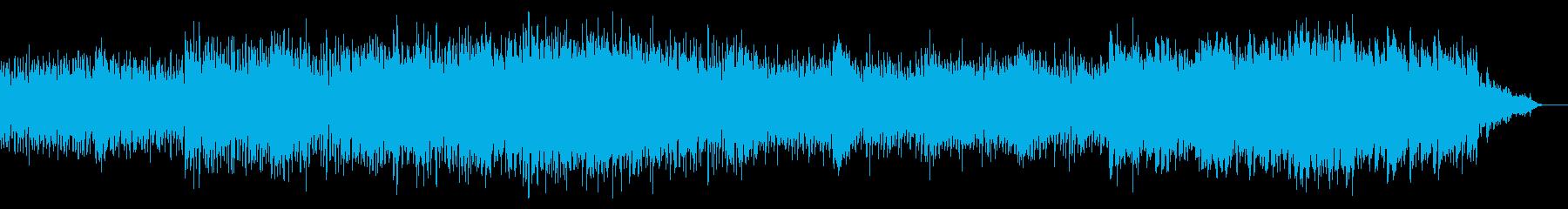 サイバーでアップテンポに迫るBGMの再生済みの波形