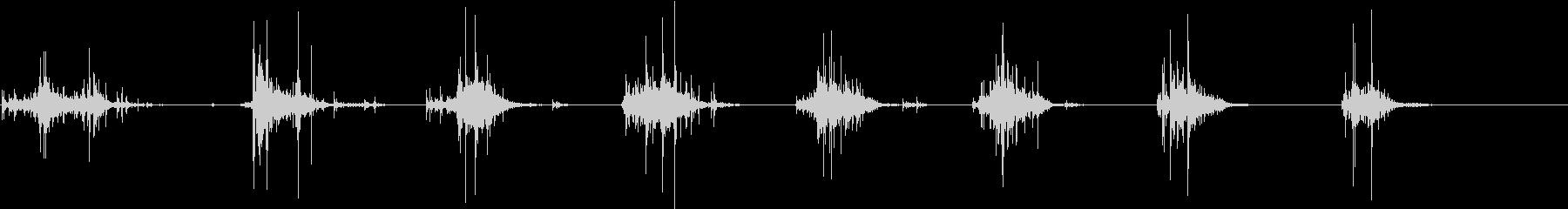 【生録音】野菜を包丁で切る音 30 深めの未再生の波形