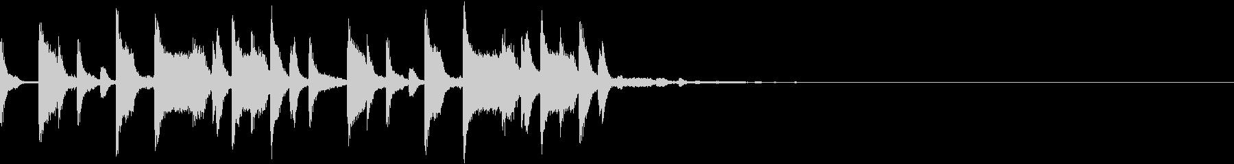 キャッチーなトラップジングルの未再生の波形