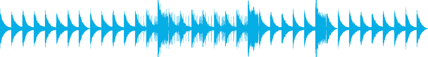 Piano chord BGM's reproduced waveform