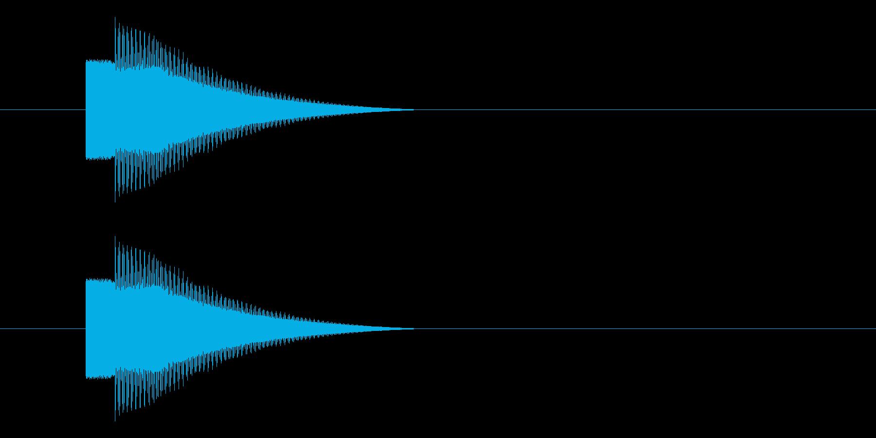 レトロゲーム風 キラーン・コインゲット音の再生済みの波形