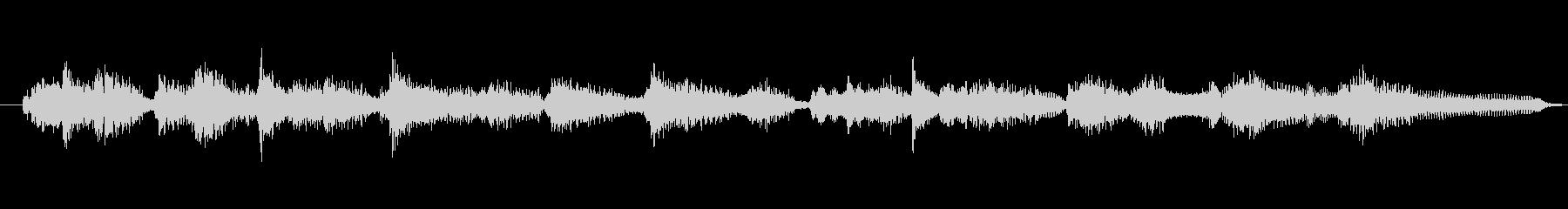 ギターのアンサンブルの未再生の波形