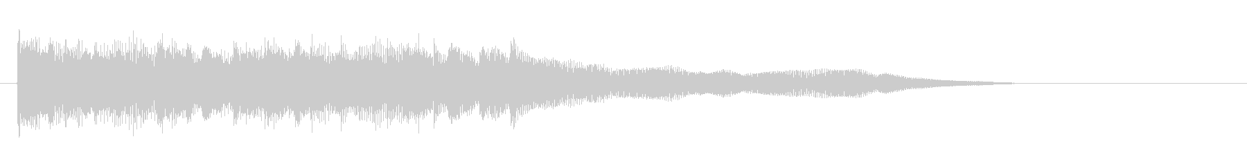 Refreshing jingle of glitter piano ③'s unreproduced waveform