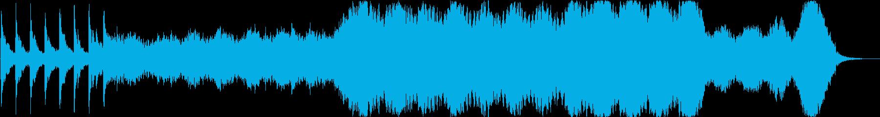 ストリングが際立つ深く美しい楽曲の再生済みの波形