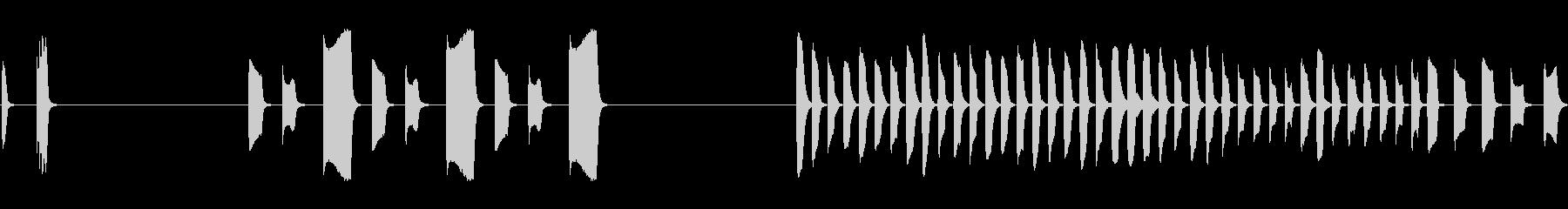 スペースソナー:メタルビープ音、2...の未再生の波形