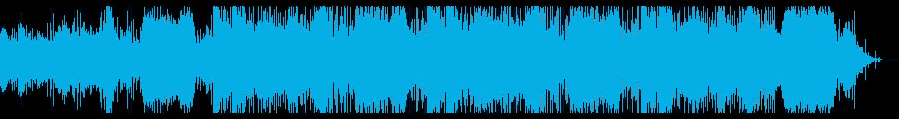 ダークでディープなデジタルテクスチャの再生済みの波形