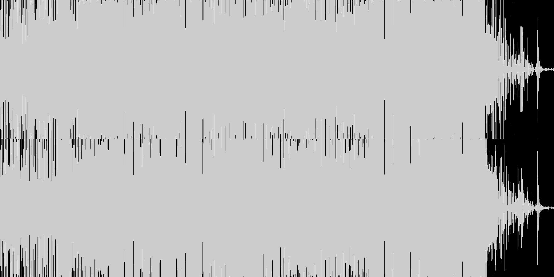 グリッチの聴いたエレクトロニカの未再生の波形