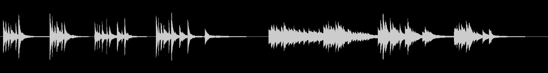 シンプルなメロディのピアノ曲の未再生の波形