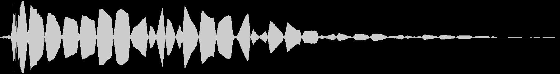 ヒットヒットインパクトの未再生の波形