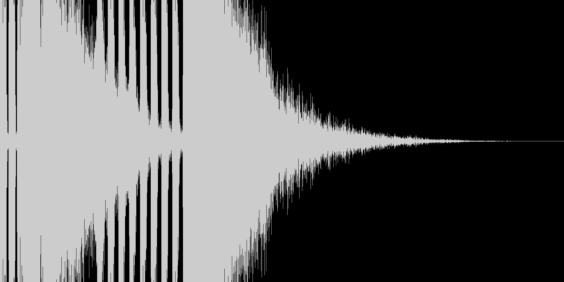王道のパチンコSEの未再生の波形