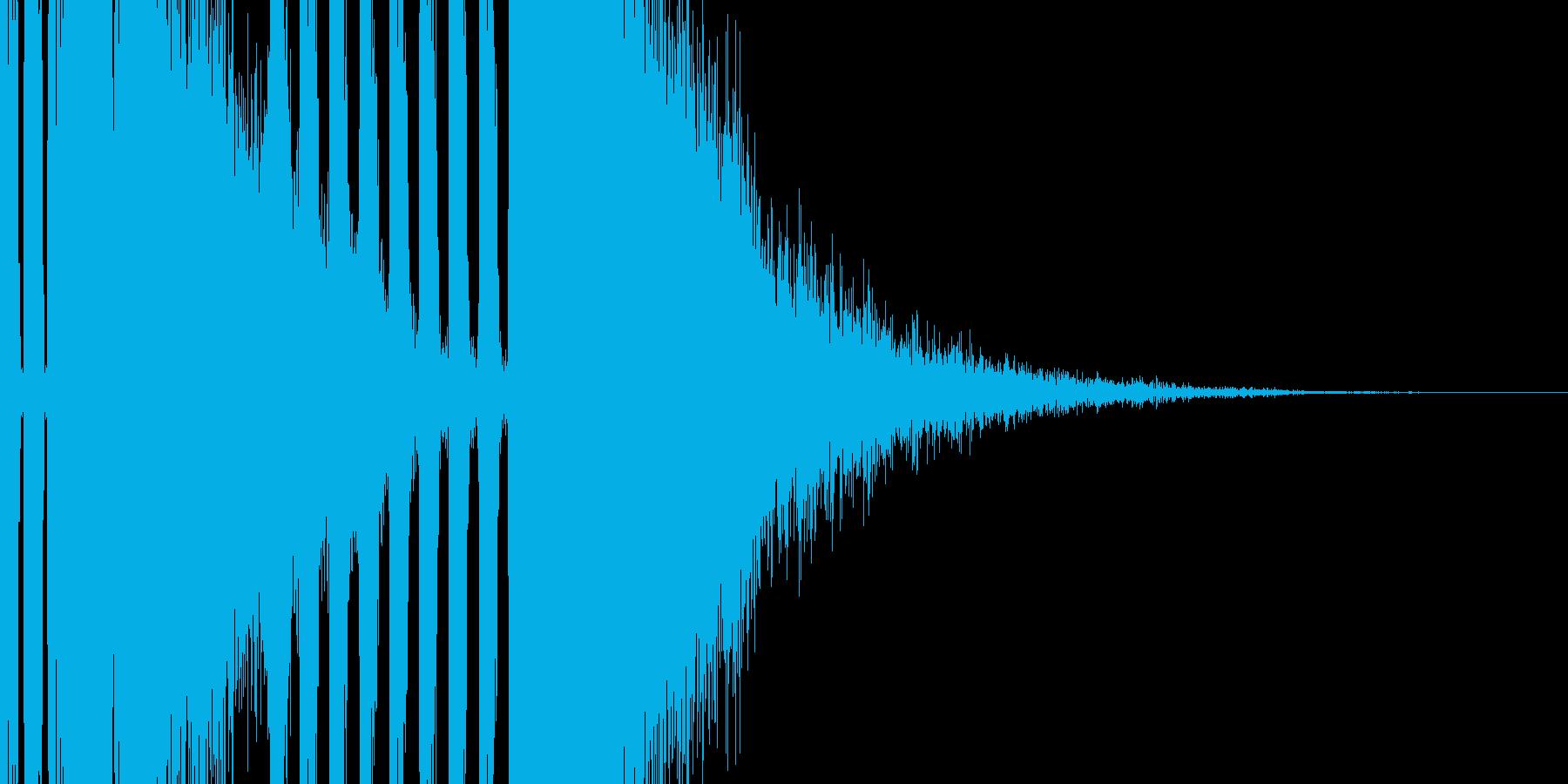王道のパチンコSEの再生済みの波形