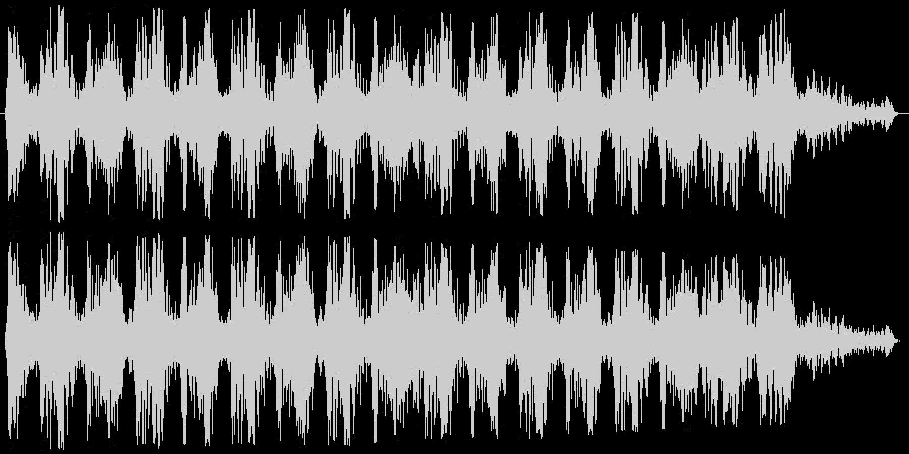 マシンガンの連射発砲音 ババババババッ!の未再生の波形