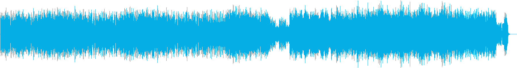 攻撃的なギターリフの曲の再生済みの波形