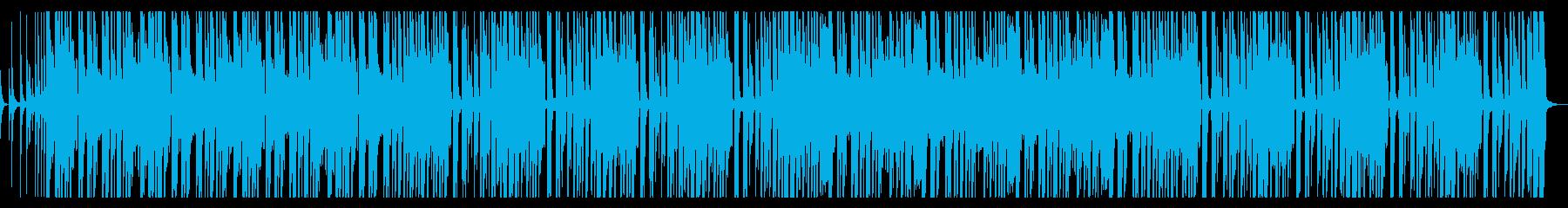 カホンを使ったロックなBGMです。の再生済みの波形