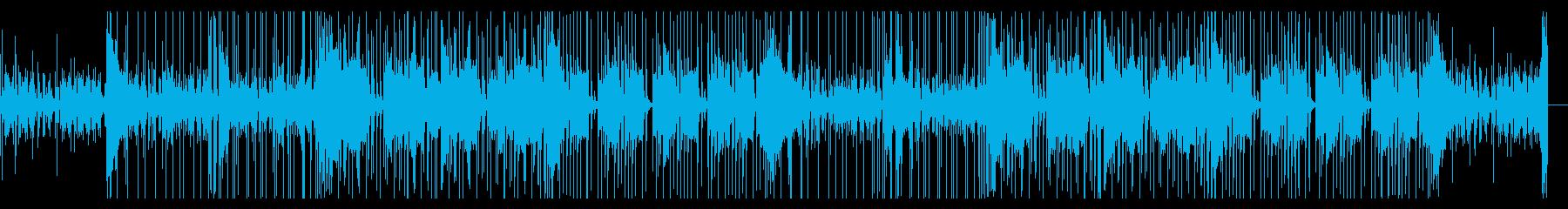 怪しく奇妙な感じのBGMの再生済みの波形