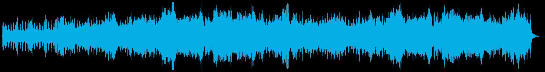 疾走感のあるファンファーレの再生済みの波形