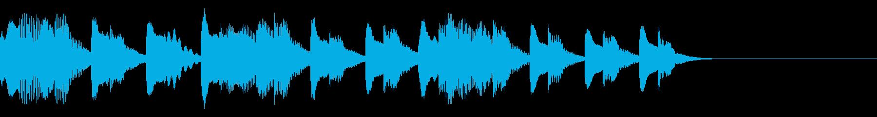可愛くほのぼのとするマリンバのジングルの再生済みの波形