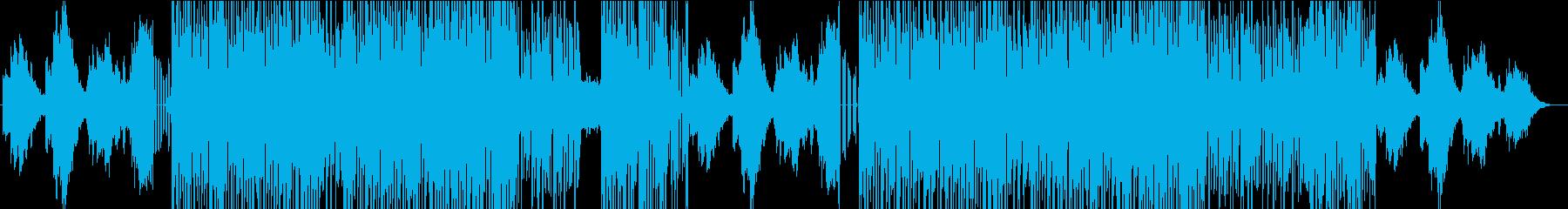 明るいシンセリードのアップテンポ曲の再生済みの波形