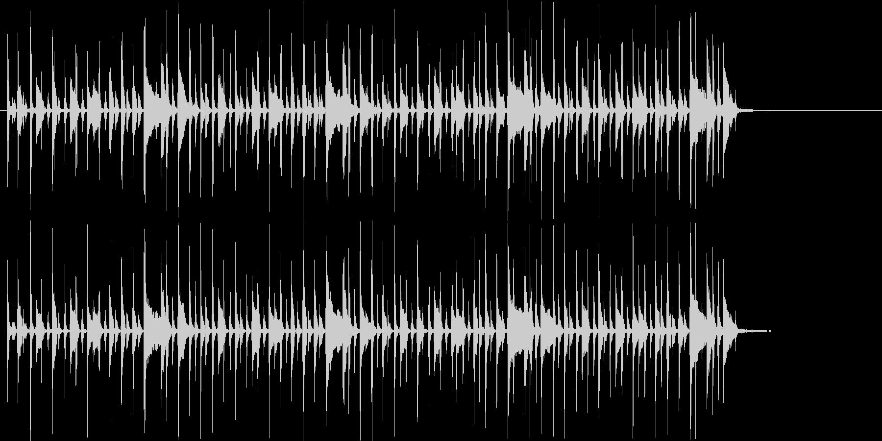 緩やかで軽快なボサノバ風ジングルの未再生の波形