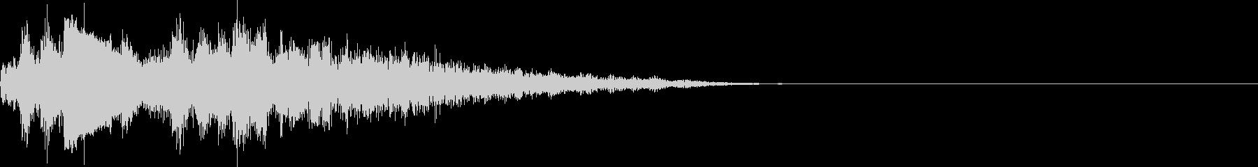 UI 近未来 SF ウィンドウ出現音の未再生の波形