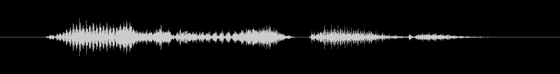 ロボット声 「ミッションスタート」の未再生の波形