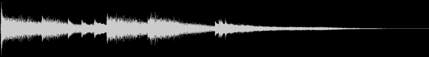 【生演奏】ピアノ連弾によるジングルの未再生の波形