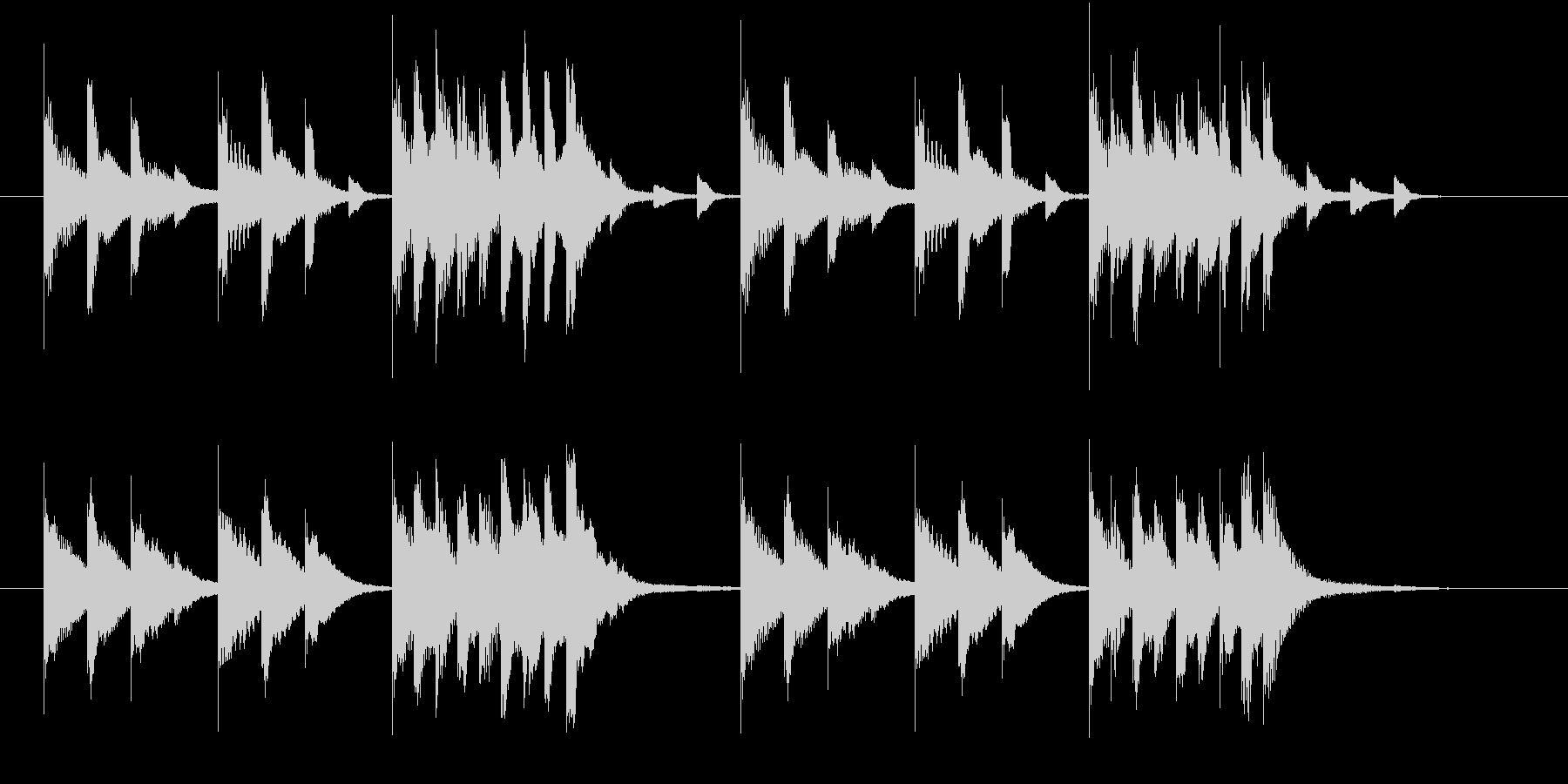 木琴の音で作ったほのぼのとしたジングルの未再生の波形