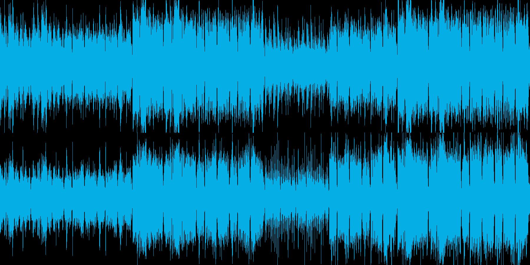 ループ:軽快なアイリッシュ伝統音楽風の再生済みの波形