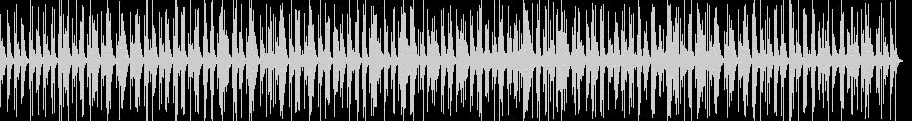 カリンバの瞑想的なヒーリング曲の未再生の波形