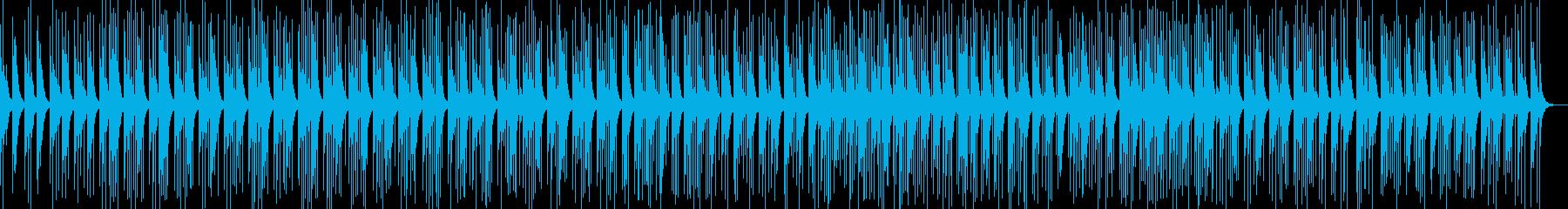 カリンバの瞑想的なヒーリング曲の再生済みの波形