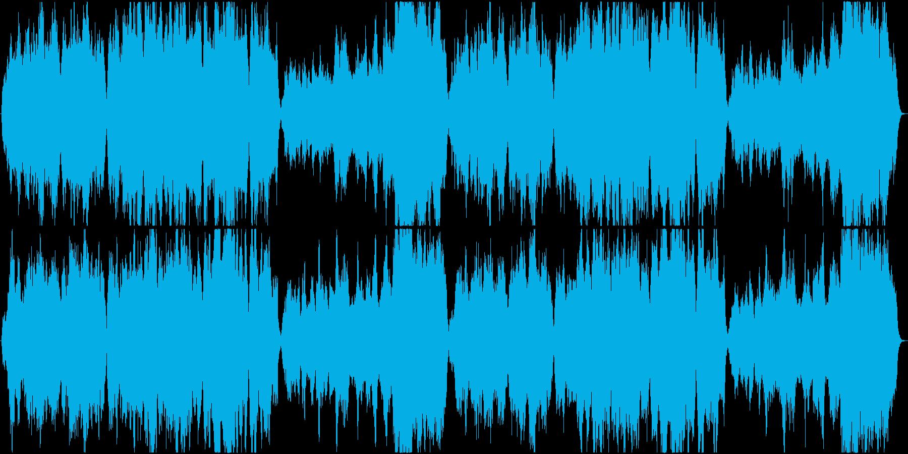 ストリングスによる壮大なテーマの再生済みの波形